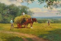 AFTERNOON IN THE HAYFIELD by Tony Sheath at Ross's Auctions