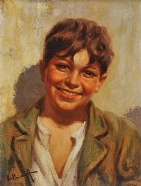 SMILING BOY by Italian School at Ross's Auctions