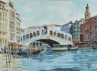 THE RIALTO BRIDGE, VENICE by Andrew Gardner at Ross's Auctions