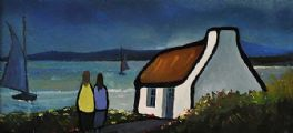 COTTAGE BY THE SEA by Eileen Gallagher at Ross's Auctions