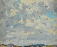 LANDSCAPE WITH CLOUD by Mary Swanzy HRHA at Ross's Auctions