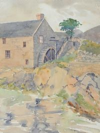 THE CORN MILL AT ANNALONG by Mabel G. Young at Ross's Auctions