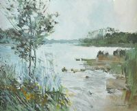 LOWER LOUGH by Terence P.  Flanagan RHA RUA at Ross's Auctions