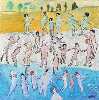 BATHERS by Fred Yates at Ross's Auctions