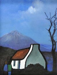 COTTAGE NEAR MOUNT ERRIGAL, DONEGAL by Eileen Gallagher at Ross's Auctions