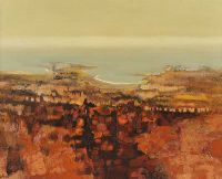 LANDSCAPE IN BROWNS by Arthur Armstrong RHA at Ross's Auctions