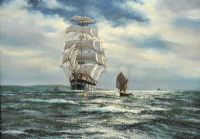 FULLY RIGGED SHIP, ARRANMORE by Henry Scott FRSA at Ross's Auctions