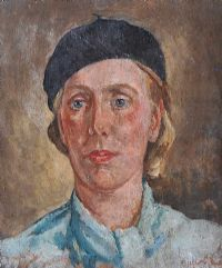 GIRL IN A BLUE BLOUSE by English School at Ross's Auctions