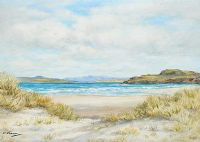 MARBLE HILL STRAND, DONEGAL by E.M. Stephenson at Ross's Auctions