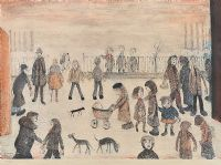 THE STREET by Laurence Stephen Lowry RA at Ross's Auctions