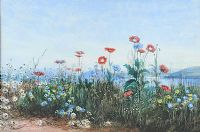 BANK OF WILD FLOWERS by Andrew Nicholl RHA at Ross's Auctions