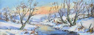 WINTER ON THE LAGAN by Nigel Allison at Ross's Auctions