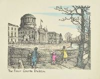 THE FOUR COURTS, DUBLIN by H. Roberts at Ross's Auctions