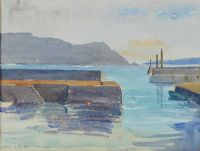 HARBOUR AT ACHILL ISLAND by Mabel G. Young at Ross's Auctions