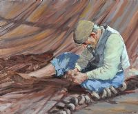 MENDING NETS by Antonis Andreades at Ross's Auctions