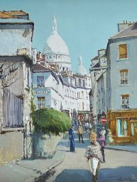 MONTMARTRE by Cecil Maguire RUA at Ross's Auctions