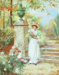 PICKING A POSY by A. Johnston at Ross's Auctions