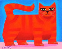 RED CAT by Graham Knuttel at Ross's Auctions