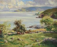 SILVER MORNING, CUSHENDUN BAY by Maurice Canning  Wilks ARHA RUA at Ross's Auctions