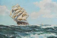 TALL SHIP SAILING by Henry Scott FRSA at Ross's Auctions