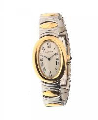 CARTIER 'BAIGNOIRE' 18CT GOLD AND STAINLESS STEEL LADY'S WRIST WATCH at Ross's Auctions