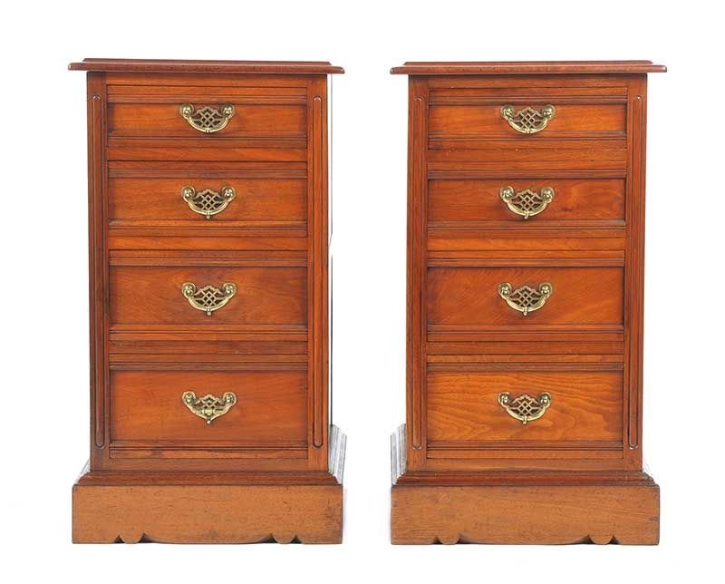 PAIR OF VICTORIAN BEDSIDE PEDESTALS at Ross's Online Art Auctions