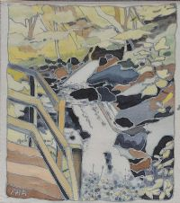 WATERFALL, GLENARIFF by Padi Ainsworth at Ross's Auctions