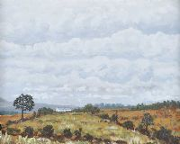 MOORLAND, COUNTY DERRY by Leslie Stevenson at Ross's Auctions