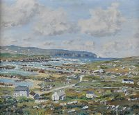 ARAN ISLAND FROM THE ROSSES, DONEGAL by Leslie Stevenson at Ross's Auctions