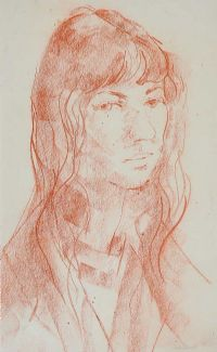 PORTRAIT OF A GIRL by George Campbell RHA RUA