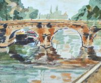 BRIDGE OVER THE CANAL by Arthur Armstrong RHA RUA