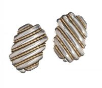 TIFFANY & CO STERLING SILVER AND 18CT GOLD CUFFLINKS at Ross's Auctions