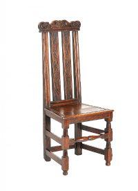 CARVED OAK HALL CHAIR at Ross's Auctions