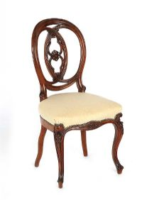 VICTORIAN MAHOGANY OCCASIONAL CHAIR at Ross's Auctions