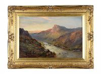 EVENING, A MOUNTAIN TORRENT by Alfred De Breanski Senior at Ross's Auctions