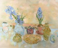 STILL LIFE WITH HYACINTHS by Stella Steyn at Ross's Auctions