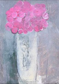 VASE OF FLOWERS by Basil Blackshaw HRHA HRUA at Ross's Auctions