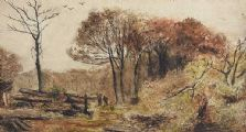 AUTUMN WOODLANDS by J. Smart at Ross's Auctions