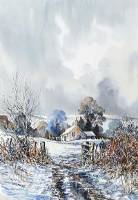COTTAGE IN WINTER by John Freeman at Ross's Auctions
