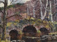 THE RED BRIDGE by Fergus O'Ryan RHA at Ross's Auctions