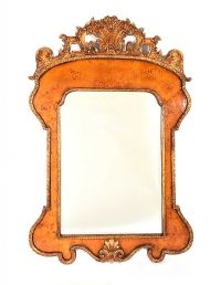 GILT WALNUT WALL MIRROR at Ross's Auctions