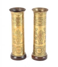 PAIR OF TRENCH ART GUN SHELLS at Ross's Auctions
