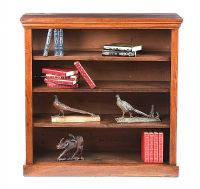 ANTIQUE MAHOGANY OPEN BOOKCASE at Ross's Auctions