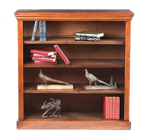 ANTIQUE MAHOGANY OPEN BOOKCASE at Ross's Online Art Auctions