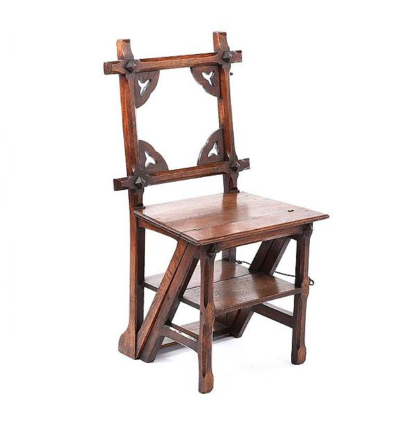 GOTHIC LIBRARY CHAIR at Ross's Online Art Auctions