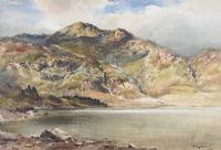 LOUGH AT THE FOOT OF THE MOUNTAINS by Wycliffe Egginton RI RCA at Ross's Auctions