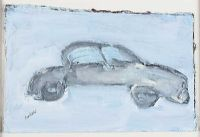 THE BLACK LIMO by Basil Blackshaw HRHA HRUA at Ross's Auctions