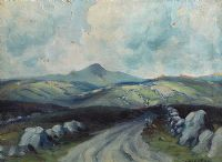 TIEVEBULLIAGH MOUNTAIN by Charles McAuley at Ross's Auctions