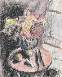 FLOWERS BY A WINDOW by Daniel O'Neill at Ross's Auctions