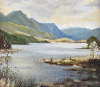 DISTANT MOUNTAINS ACROSS THE LOUGH by Harold Storey at Ross's Auctions